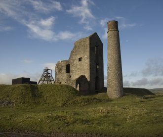 Magpie Mine, near Sheldon, is one of the most iconic lead mining sites in the Peak District with a long and rich history.  This 19th century Cornish pumping engine house is  prominent local landmark. | © John Barnatt