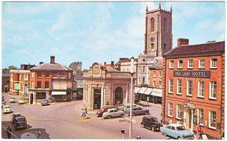 Fakenham Market Place in the 1960s