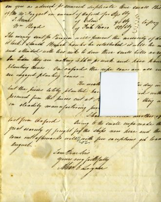 Letter to John Gladstone & Co, Liverpool from Alexander C Logan, May Hill, Manchester, Jamaica. 1840