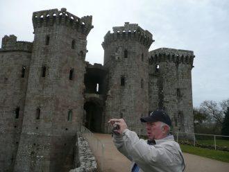 Raglan Castle overlooking Raglan Village