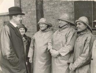 Gorleston Lifeboat Crew, 1939, with Gorleston Vicar, Rev D Dick