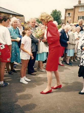 Opening of the village centre by H.R.H. Princess Diana of Wales, 1989