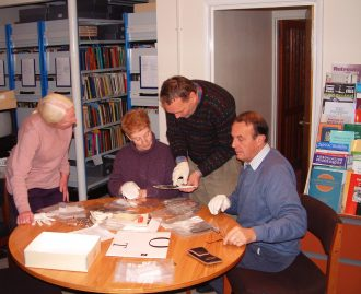 Wennington Old Scholars at a residential Archive 'Weekend'