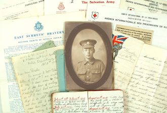 Papers of Pte Edward Cutt, killed at Loos, 1915