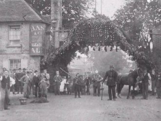 The Bell at Barnet Gate where the medieval manor courts were held.