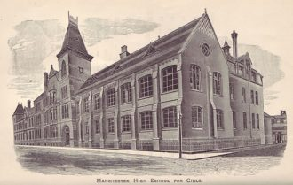 Manchester High School in the 1880s