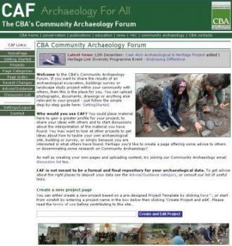 Community Archaeology Forum