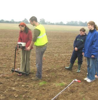 Archaeological fieldwork at  Copston Lodge Farm, Wolvey looking for Copston Parva, a deserted medieval settlement.