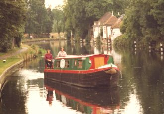 Canal boat at Ware