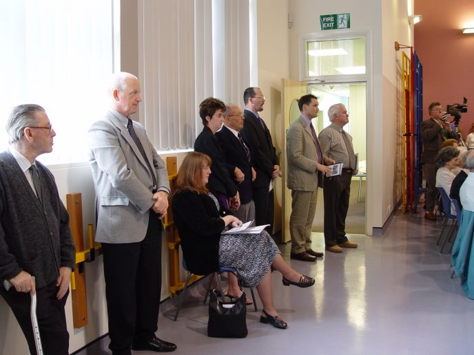 Standing Room Only!! (L-R Cliff Edwards, David Harries, Eira, Joanna Daniel, Ken L. James, Unknown, Paul Booth BA (Hons), NPQH, Trevor John.