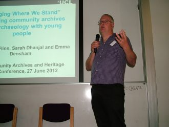 Dr Andrew Flinn, UCL 'Dig Where We Stand' project