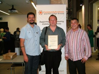 representatives from Plymouth 'Pride in our Past', winners of the 'Most Inspirational' Community Archive 2011