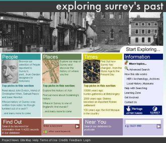 Exploring Surrey's Past website