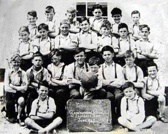 Glassdrummond School Football Team, June 1949