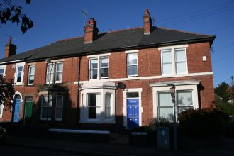 Typical of houses in the area, these two houses were used from 1901 to the 1950s as childrens' homes - part of the Scattered Homes system