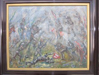 A styalised scene from the 1471 Battle of Barnet