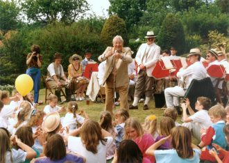 Johnny Morris at the 1990 Aldbourne Festival
