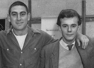 Alan Ayckbourn with his mentor Stephen Joseph