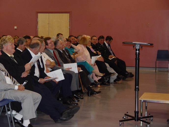 Audience reaction to Pastor Brian Dallimore excellent closiing address.
