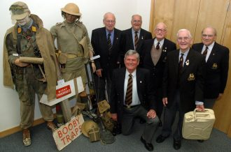 Veterans from the Surrey Regiments attend the launch, June 2008