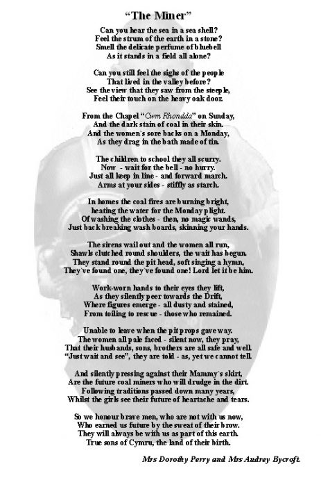 The Miners Poem