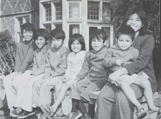 Seven 'Lost' [Vietnamese Boat] children at one of Ockenden's homes, 1978