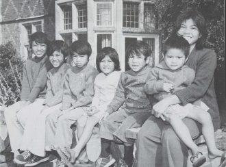 Seven 'Lost' [Vietnamese Boat] children at one of Ockenden's homes, 1978