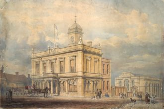 The Old Town Hall, Basingstoke in the 1860s. Now home to the Willis Museum