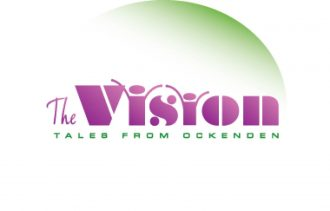 Logo for the community play 'The Vision: Tales from Ockenden'