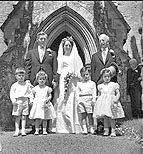 Locke-Willis Wedding, Salterton, Devon 1962