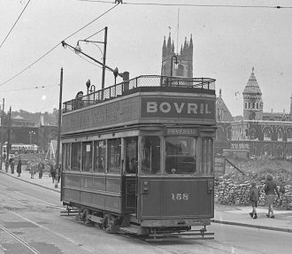 Last Tram, Old Town St, Plymouth 1945