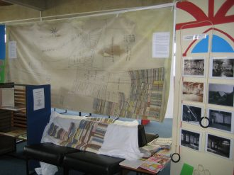 Knitting the map at Whitehawk Library