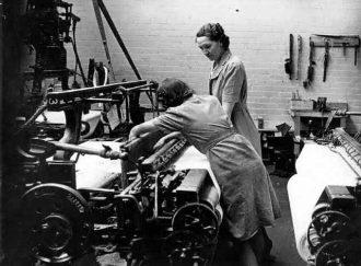 Weavers hard at work