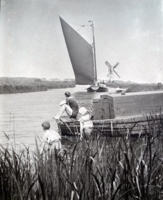 Bathing in The Broads 1911 Ludham