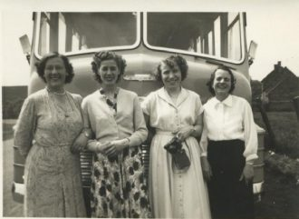 Works outing to Scarborough, 1949
