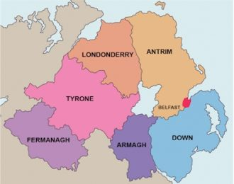 Map of Northern Ireland, from the Canni website