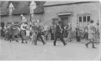 Band in fancy dress at Soham Carninval, C1950