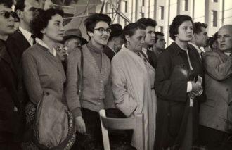 Clarion singers in Czechoslovakia, 1957