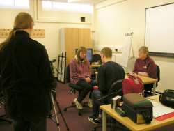 Young people interviewing