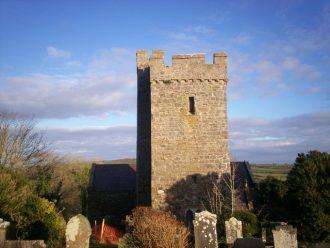 St Elidyr Chruch, Crunwere Parish - Llanteg.  Reached through a field - now redundant.