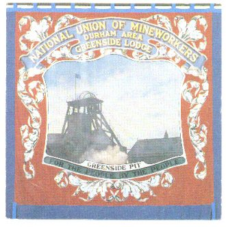 The Greenside Colliery Banner, currently being restored to its original glory