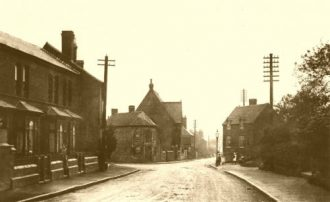 The old turnpike road from Birmingham to Kidderminster, c1900.