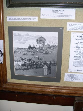 A display panel showing the Barnet horse fair