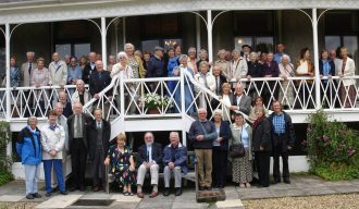 Members of the Barnet & District Local History Society celebrate their 80th Anniversary with a garden party at Osidge in 2007