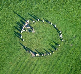 Castlerigg Stone Circle from above