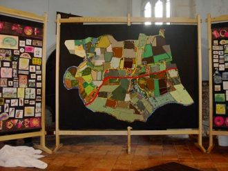 The Map in St Catherine's church