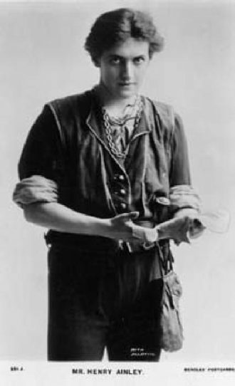 Henry Ainley (born:1879, died:1945) as 'Orlando' in 'As You Like It'. He was born in Leeds but spent much of his youth in Morley. He was a very famous actor of his time. Photo taken on 07/10/1908.