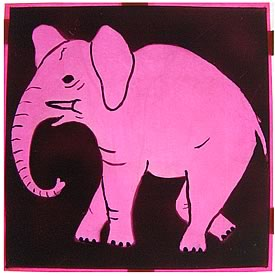 Window sign from the Pink Elephant Club, 131, King's Road