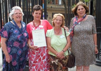 Kate MacDonell, Janette Gregson, Shelagh Gaylard and Carol Strong from Ryde Social Heritage Group Winner of the 'Most Inspirational' Community Archive and Heritage Group