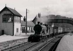 Old photograph of Helmsdale train station